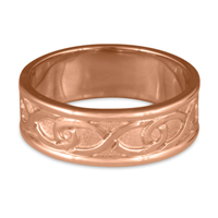 Twinning Infinity Wedding Ring in 14K Rose Gold