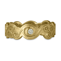 Triscali Ring with Diamonds in 14K Yellow Gold