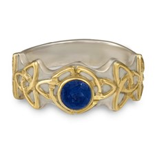 Trinity Ring with Gem in Sapphire