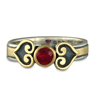 Corazon Engagement Ring in Ruby