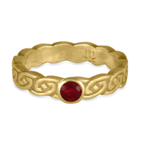 Borderless Petra Engagement Ring in Ruby
