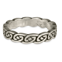 Borderless Petra Wedding Ring in Sterling Silver