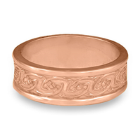 Bordered Petra Wedding Ring in 14K Rose Gold