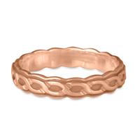 Borderless Rope Wedding Ring Edge in 14K Rose Gold