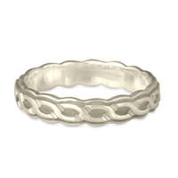 Borderless Rope Wedding Ring Edge in Platinum