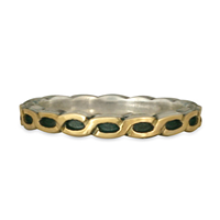 Borderless Rope Ring in Sterling Borders & Base w 14K Yellow Gold Center
