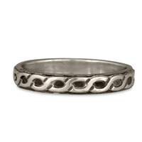 Borderless Rope Wedding Ring Straight in Sterling Silver