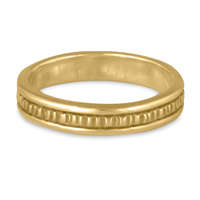 Narrow Bridges Wedding Ring in 14K Yellow Gold