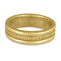 Wide Bridges Wedding Ring in 14K Yellow Gold