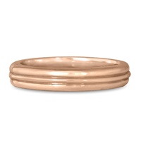 Windsor Wedding Ring in 14K Rose Gold