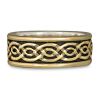 Bordered Laura Wedding Ring in Two Tone