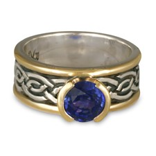 Bordered Laura Engagement Ring in Sapphire