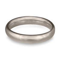 Classic Comfort Fit Wedding Ring 4mm in Palladium