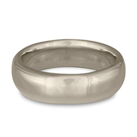 Classic Comfort Fit Wedding Ring 7mm in Palladium
