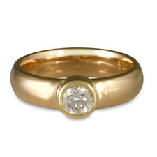 Classic Comfort Fit Engagement Ring in 14K Yellow Gold