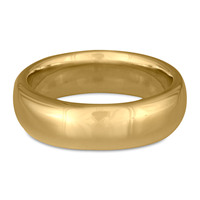 Classic Comfort Fit Wedding Ring 7mm in 14K Yellow Gold