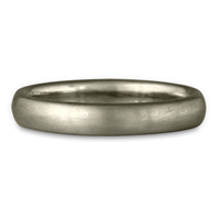 Classic Comfort Fit Wedding Ring Brushed in 14K White Gold