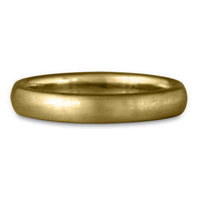 Classic Comfort Fit Wedding Ring Brushed in 14K Yellow Gold