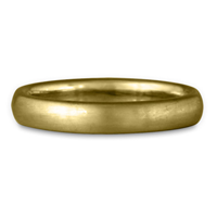 Classic Comfort Fit Wedding Ring Brushed in 18K Yellow Gold