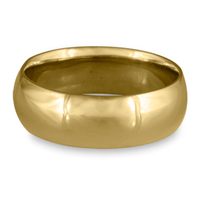 Classic Comfort Fit Wedding Ring 8mm in 14K Yellow Gold