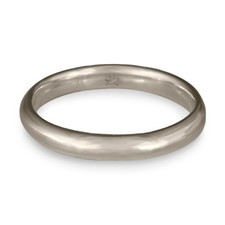 Classic Comfort Fit Wedding Ring 3mm in Palladium