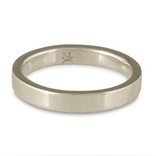 Flat Comfort Fit Wedding Ring 3mm in 14K White Gold