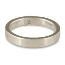 Flat Comfort Fit Wedding Ring 4mm in 14K White Gold