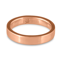 Flat Comfort Fit Wedding Ring 5mm in 14K Rose Gold