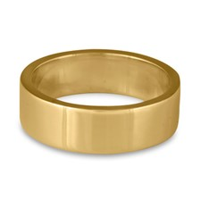 Flat Comfort Fit Wedding Ring 7mm in 14K Yellow Gold