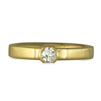 Plana Comfort Fit Engagement Ring in 18K Yellow Gold