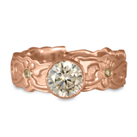Persephone Engagement Ring with Gems in 14K Rose Gold