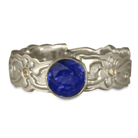 Persephone Engagement Ring with Gems in Sapphire