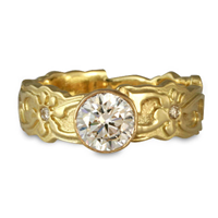 Persephone Engagement Ring with Gems in 18K Yellow Gold