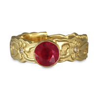 Persephone Engagement Ring with Gems in Ruby
