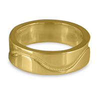 River Gold Wedding Ring 6mm in 14K Yellow Gold