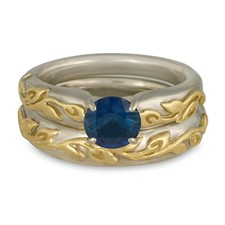 Flores Classic Bridal Ring Set in Sapphire
