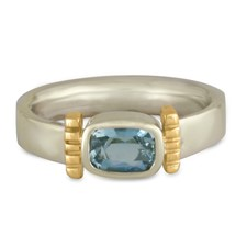 Ohara Ring in 14K White Base with 14K Yellow Design