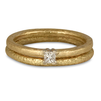 Playa Bridal Ring Set in 14K Yellow Gold