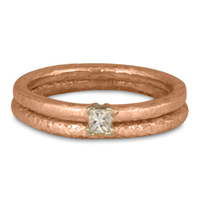 Playa Bridal Ring Set in 18K Rose Gold