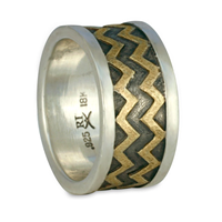 Zig Zag Ring in Two Tone