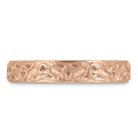 Trinity Strand Wedding Band in 14K Rose Gold