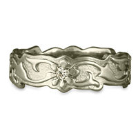 Borderless Persephone Wedding Ring with Gems in 14K White Gold