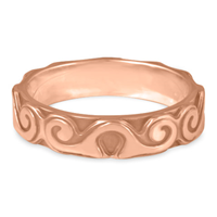 Borderless Ravena Wedding Ring in 14K Rose Gold