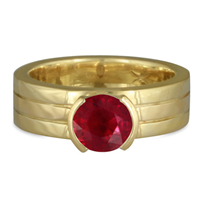 Marcello Engagement Ring in Ruby