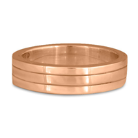 Marcello Wedding Ring in 18K Rose Gold