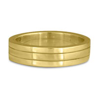 Marcello Wedding Ring in 18K Yellow Gold