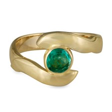 Donegal Twin Engagement Ring in Emerald