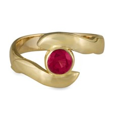 Donegal Twin Engagement Ring in Ruby