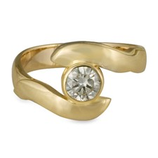 Donegal Twin Engagement Ring in 14K Yellow Gold