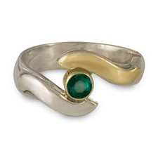 Donegal Eye Engagement Ring in Emerald